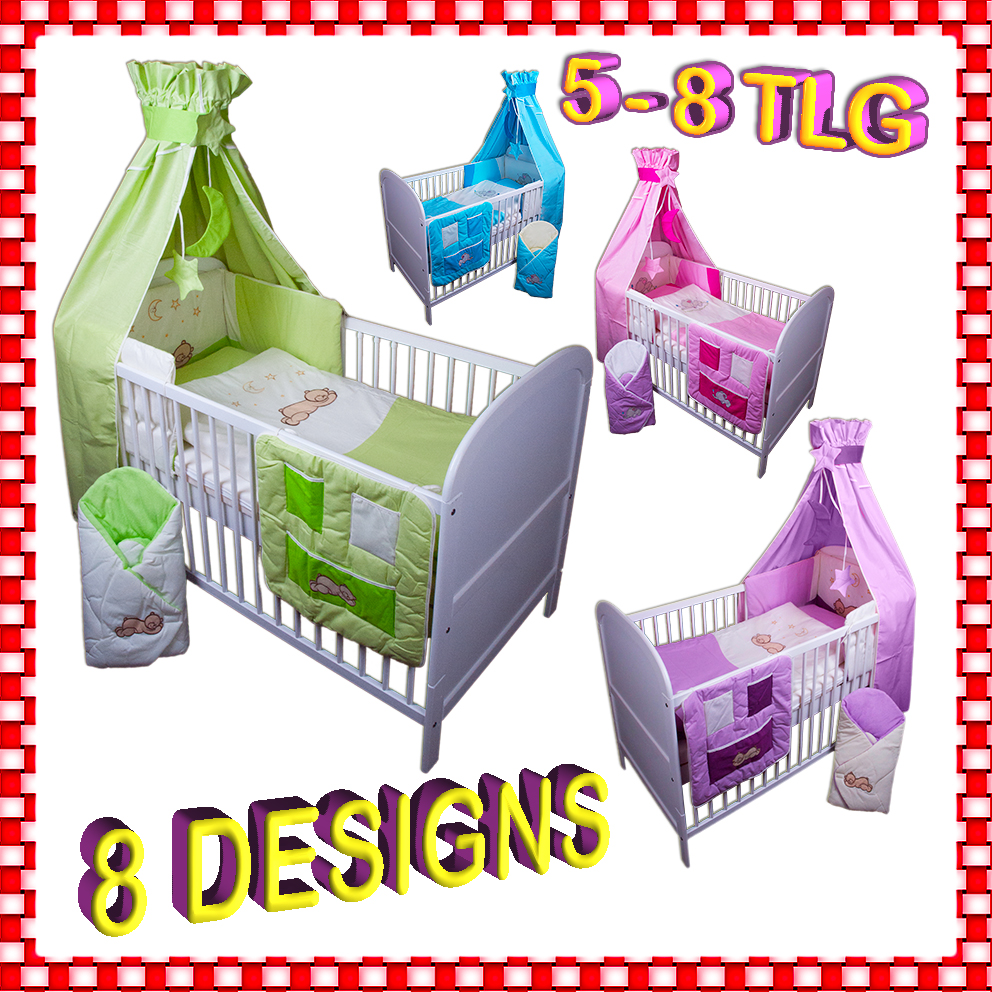 baby bettw sche himmel nestchen bettset mit stickerei 100x135cm neu f r babybett ebay. Black Bedroom Furniture Sets. Home Design Ideas