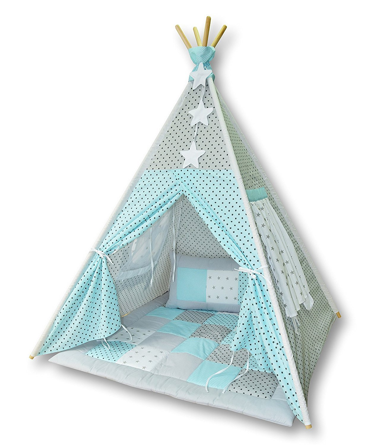 tipi spielzelt zelt f r kinder t08 spielzelt mit tipidecke mit kissen neu ebay. Black Bedroom Furniture Sets. Home Design Ideas