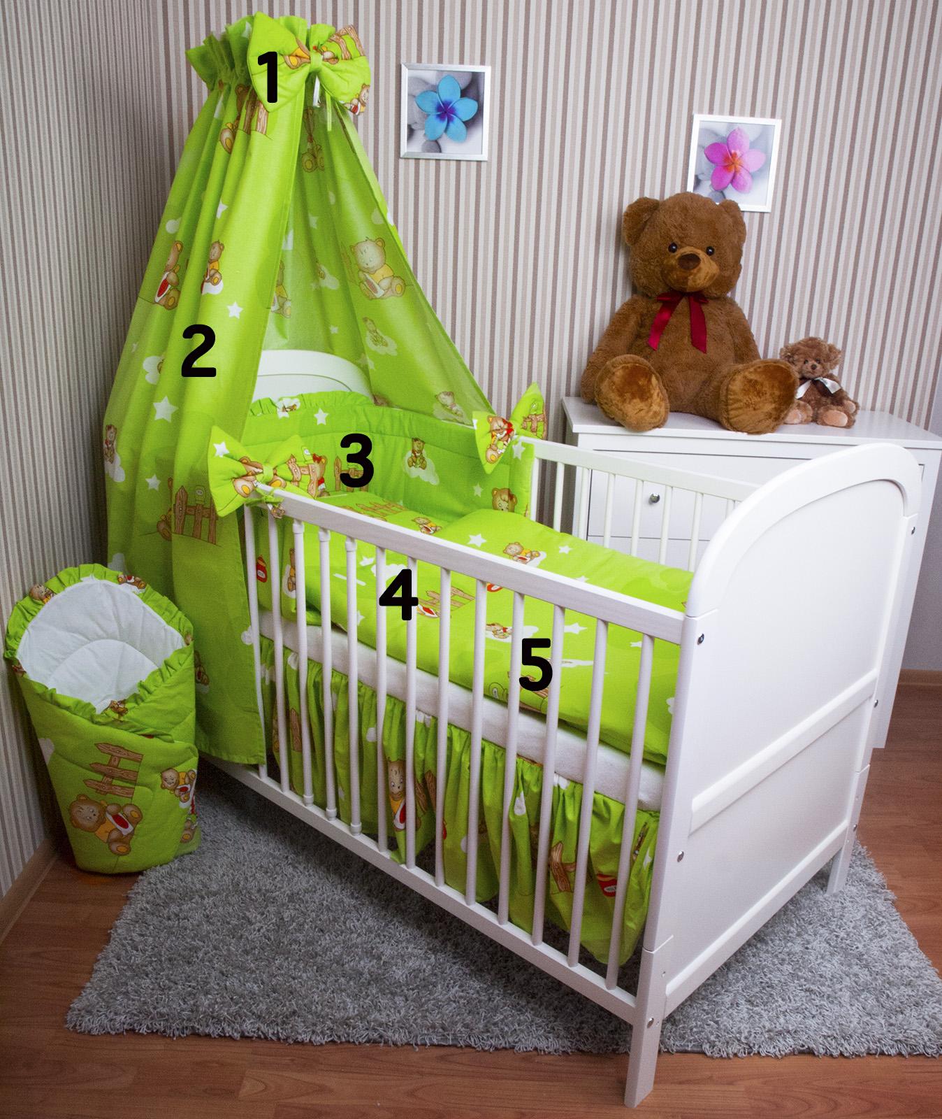 baby bettw sche himmel nestchen bettset 100x135cm f r babybett 120x60 140x70 ebay. Black Bedroom Furniture Sets. Home Design Ideas