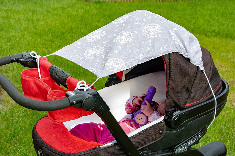 Amilian Sonnensegel f/ür jeden Kinderwagen universal UV-Sonnenschutz f/ür Baby luftdurchl/ässig Anker Blau
