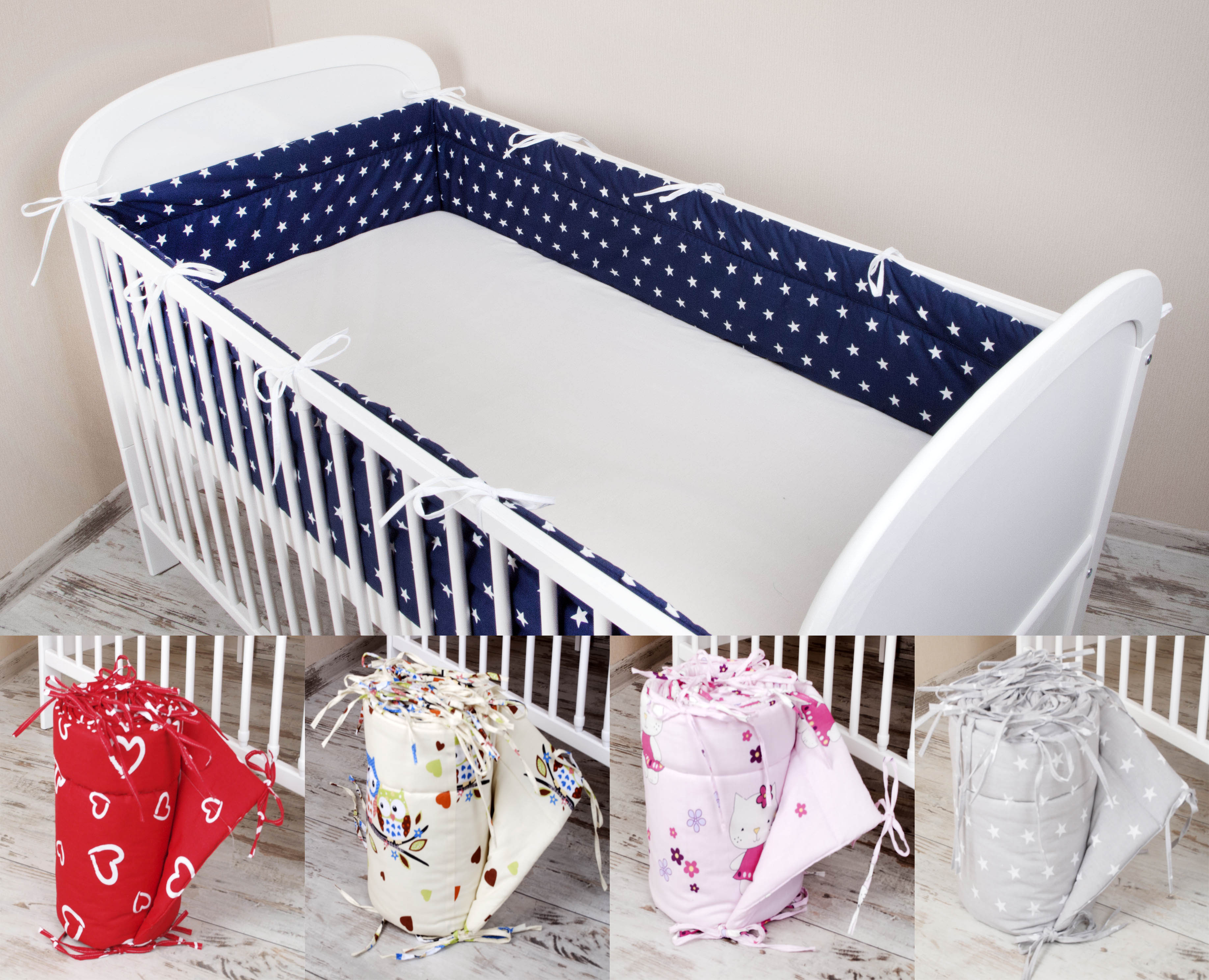 Baby Mit Bären Unter Der Voraussetzung Bettschlange Nestchen Für Babybett Bettausstattung